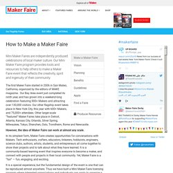 Make a Maker Faire - Maker Faire