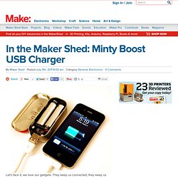 Make: Online | In the Maker Shed: Minty Boost USB Charger - StumbleUpon