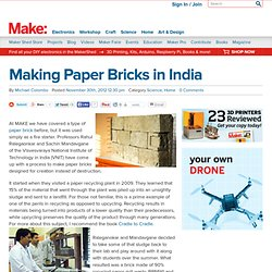Making Paper Bricks in India