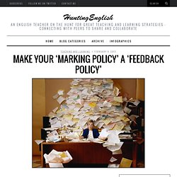 Make your 'Marking Policy' a 'Feedback Policy'