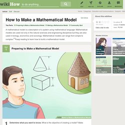 How to Make a Mathematical Model: 9 Steps