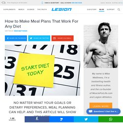 How to Make Meal Plans That Work For Any Diet