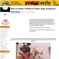 How to Make Medieval Paint (Egg Tempera)