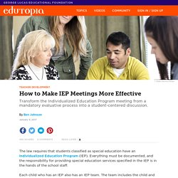 How to Make IEP Meetings More Effective