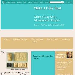 Make a Clay Seal - Mesopotamia Project - Quatr.us