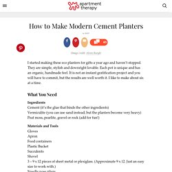 How to Make Modern Cement Planters