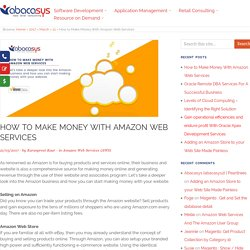 How to Make Money With Amazon Web Services