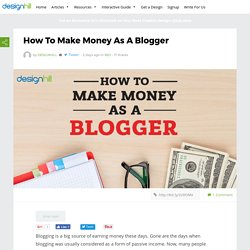 How To Make Money As A Blogger – Designhill