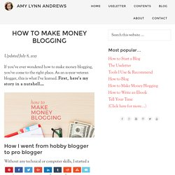 How to Make Money Blogging - Guide for 2015
