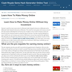 How To Make Money Online - Ways To Earn Money From Home