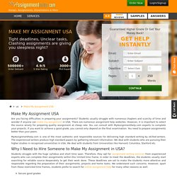 Make My Assignment Online in USA