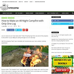 How to Make an All-Night Campfire with Only One Log
