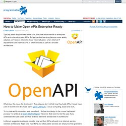 APIs Enterprise Ready