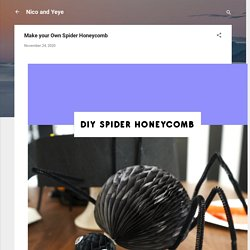 Make your Own Spider Honeycomb