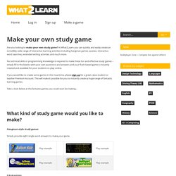 Make your own study game