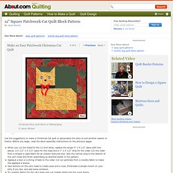 Christmas Quilts: Christmas Cat Wallhanging Pattern