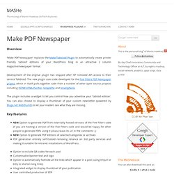 Make PDF Newspaper MASHe
