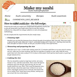 Sushi Rice | Make My Sushi