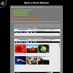 Make a Photo Website