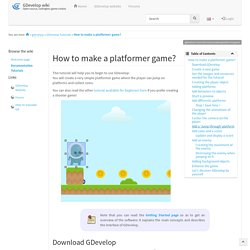 How to make a platformer game? [GDevelop wiki]