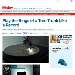 Play the Rings of a Tree Trunk Like a Record