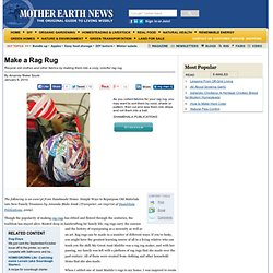Make a Rag Rug
