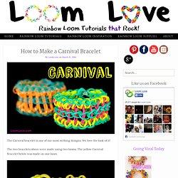 How to Make a Rainbow Loom Carnival Bracelet