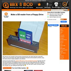Make a SD reader from a Floppy Drive