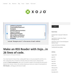 Make an RSS Reader with Xojo…in 26 lines of code