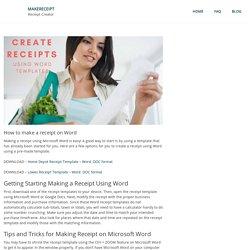 How to make a receipt on Word – MakeReceipt