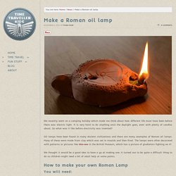 Make a Roman oil lamp:: Time Traveller Kids