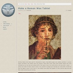 Make a Roman Wax Tablet