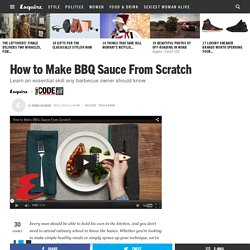 Make BBQ Sauce from Scratch - How to Make Barbecue Sauce from Scratch