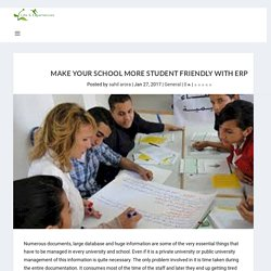 Make your school more student friendly with ERP