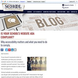 Make sure you school website is an ADA compliant website