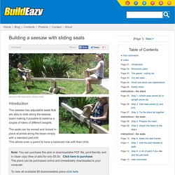 How to make a seesaw with a sliding seat