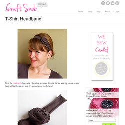 Make a t-shirt headband | Craft Snob