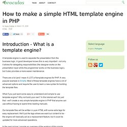 How to make a simple HTML template engine in PHP