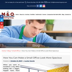 How You Can Make a Small Office Look More Spacious