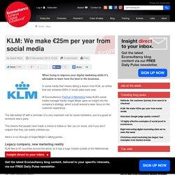 KLM: We make €25m per year from social media