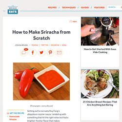 How to Make Sriracha from Scratch