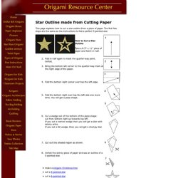 Make A Star Outline From A Piece Of Paper