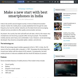Make a new start with best smartphones in India