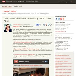 Make STEM Come Alive In The Classroom