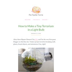 How to Make a Tiny Terrarium in a Light Bulb | The Hipster Home