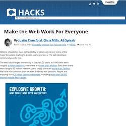 Make the Web Work For Everyone
