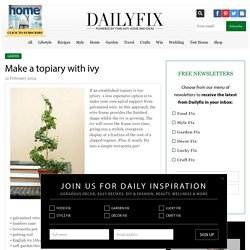 Make a topiary with ivy