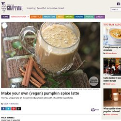 Make your own (vegan) pumpkin spice latte