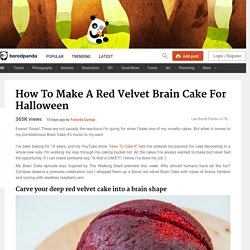How To Make A Red Velvet Brain Cake For Halloween
