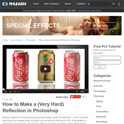 How to Make a (Very Hard) Reflection in Photoshop
